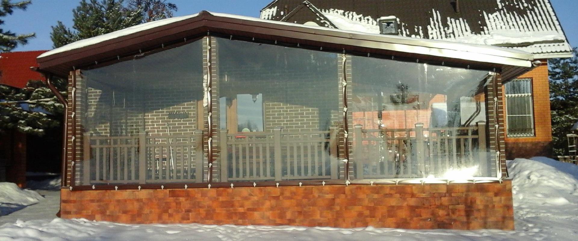 Мягкие окна для беседок, веранд, террас